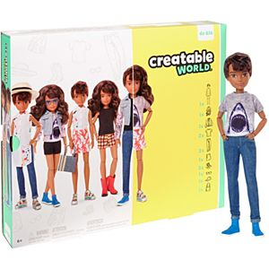 Creatable World™ Deluxe Character Kit Customizable Doll, Brunette Wavy Hair (Coming Soon)