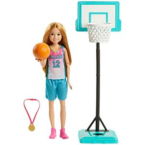 Barbie® Dreamhouse Adventures Stacie™ Basketball Doll in Basketball Fashion with Accessories