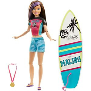 Barbie™ Dreamhouse Adventures Skipper™ Surf Doll, approx. 11-inch in Surfing Fashion, with Accessories