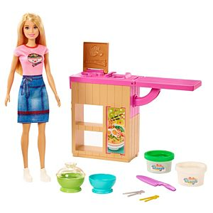 ​Barbie® Noodle Bar Playset with Blonde Doll, Workstation and Accessories
