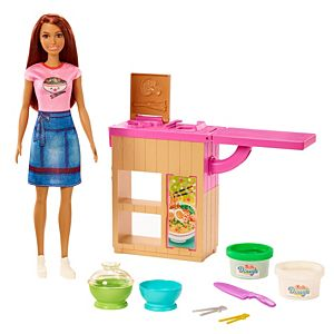 ​Barbie® Noodle Bar Playset with Brunette Doll, Workstation and Accessories