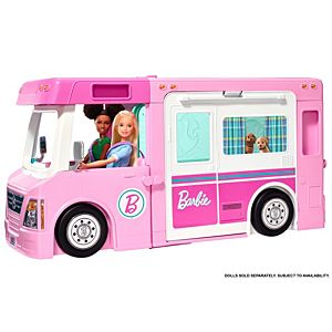 Barbie® 3-in-1 DreamCamper™ Vehicle with Pool, Truck, Boat and 60 Accessories