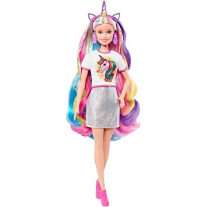 Barbie® Fantasy Hair™ Doll with Mermaid & Unicorn Looks