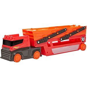Hot Wheels® Mega Hauler with Storage for up to 50 1:64 scale cars ages 3 and older