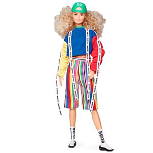 Barbie® BMR1959™ Doll - Color Block Sweatshirt with Logo Tape & Striped Shorts