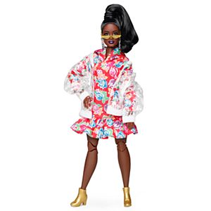 Barbie® BMR1959™ Doll - Clear Vinyl Bomber Jacket & Floral Hoodie Dress