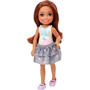 Barbie® Club Chelsea™ Doll (6-inch Brunette) with Unicorn Graphic and Star Skirt