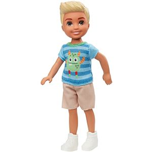 Barbie® Club Chelsea™ Boy Doll (6-inch Blonde) with Monster Graphic Shirt and Shorts