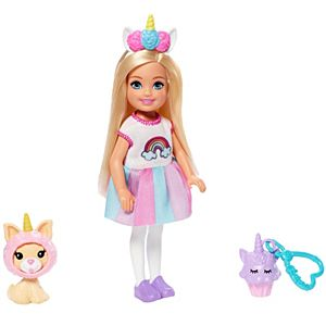Barbie® Club Chelsea™ Dress-Up Doll in Unicorn Costume, 6-inch