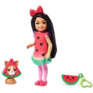 Barbie® Club Chelsea™ Dress-Up Doll in Watermelon Costume, 6-inch