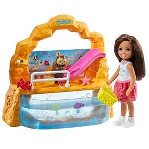 Barbie® Club Chelsea™ Doll and Aquarium Playset, 6-inch Brunette, with Accessories