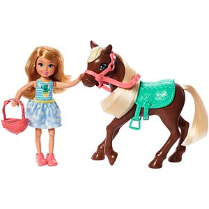 Barbie® Club Chelsea™ Doll and Horse, 6-inch Blonde, Wearing Fashion and Accessories