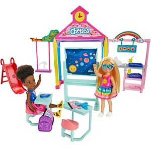 Barbie® Club Chelsea™ Doll and School Playset, 6-inch Blonde, with Accessories