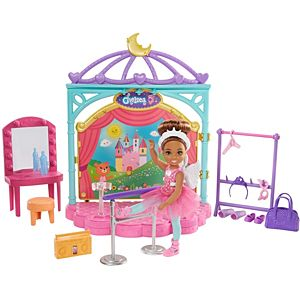 Barbie® Club Chelsea™ Doll and Ballet Playset (6-in Brunette) with Accessories