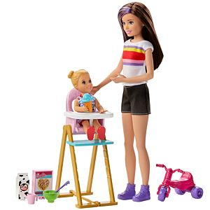 Barbie® Skipper™ Babysitters Inc.™ Playset with Skipper™ Doll, Feeding Toddler Doll and More