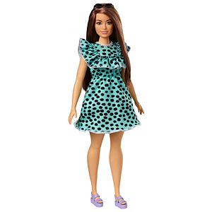 Barbie® Fashionistas™ Doll #149 with Long Brunette Hair & Polka-Dot Dress