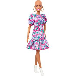 Barbie® Fashionistas™ Doll #150 with No-Hair Look & Floral Dress