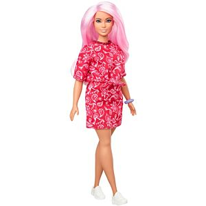 Barbie® Fashionistas™ Doll #151 with Long Pink Hair & Red Paisley Outfit