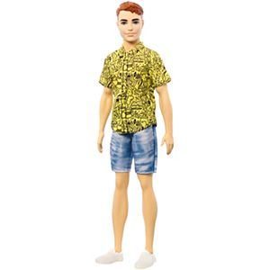 Ken™ Fashionistas™ Doll #139 with Red Hair and Graphic Yellow Shirt