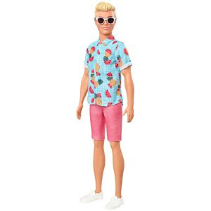 Barbie® Ken™ Fashionistas™ Doll #152, Sculpted Blonde Hair & Tropical Print Shirt