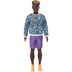 Barbie® Ken™ Fashionistas™ Doll #153, Sculpted Dreadlocks & Animal-Print Sweatshirt