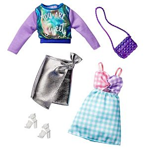 Barbie® Fashions 2-Pack Clothing & Accessories Set Includes Iridescent Sweatshirt