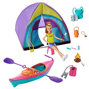 Barbie® Team Stacie™ Doll & Accessories Set with Toy Tent, Kayak & 15+ Pieces