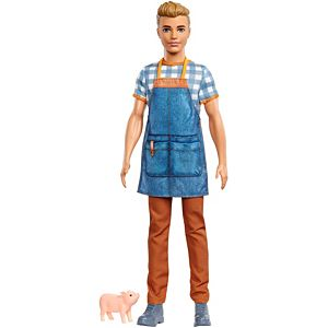 Barbie® Sweet Orchard Farm™ Ken™ Doll, Sandy Blonde, with Piglet