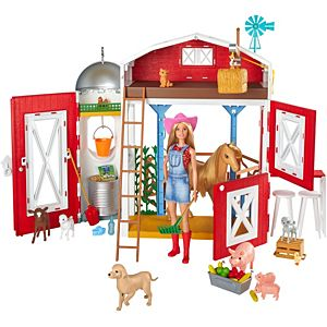 Barbie® Sweet Orchard Farm™ Playset with Barn, 11 Animals, Working Features & 15 Pieces