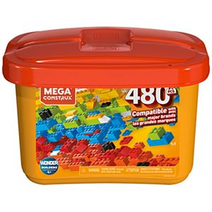 Mega Construx Medium Bulk Tub Open Ended Construction Set - 480pcs