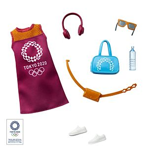 Barbie® Storytelling Fashion Pack of Doll Clothes Inspired by the Olympic Games Tokyo 2020: Dress with 6 Accessories for Barbie® Dolls