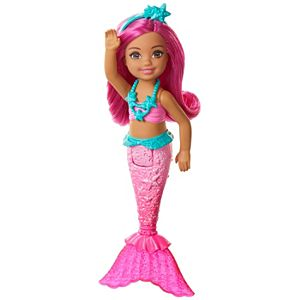 Barbie™ Dreamtopia Chelsea™ Mermaid Doll, 6.5-inch with Pink Hair and Tail