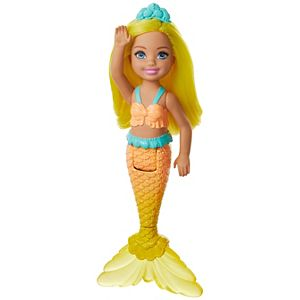 Barbie™ Dreamtopia Chelsea™ Mermaid Doll, 6.5-inch with Yellow Hair and Tail