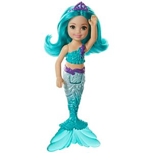 Barbie™ Dreamtopia Chelsea™ Mermaid Doll, 6.5-inch with Teal Hair and Tail