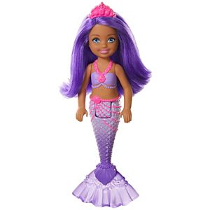 Barbie™ Dreamtopia Chelsea™ Mermaid Doll, 6.5-inch with Purple Hair and Tail