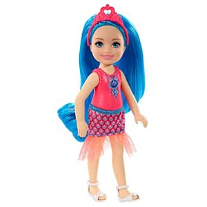 Barbie™ Dreamtopia Chelsea™ Sprite Doll, 7-inch, with Blue Hair Wearing Fashion and Accessories