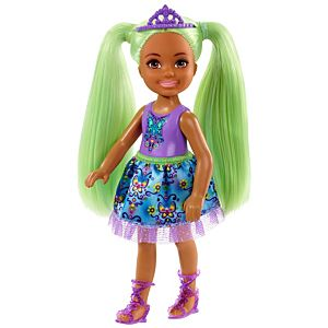Barbie™ Dreamtopia Chelsea™ Sprite Doll, 7-inch, with Green Hair Wearing Fashion and Accessories
