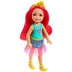 Barbie™ Dreamtopia Chelsea™ Sprite Doll, 7-inch, with Pink Hair Wearing Fashion and Accessories