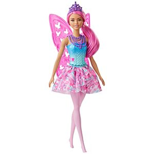 Barbie Dreamtopia™ Fairy Doll, 12-inch, Pink Hair, with Wings and Tiara