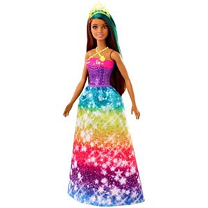 Barbie Dreamtopia™ Princess Doll, 12-inch, Brunette with Blue Hairstreak