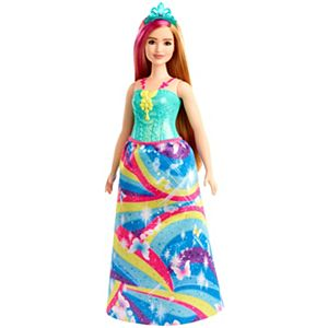 Barbie® Dreamtopia Princess Doll - Blonde with Pink Hairstreak, Curvy
