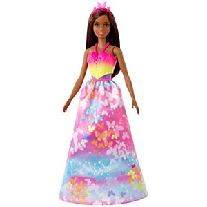 Barbie™ Dreamtopia Dress Up Doll Gift Set, approx. 12-inch, Brunette with 3 Fashions