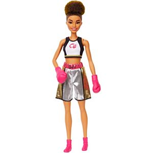 Barbie® Boxer Doll, Brunette, Wearing Boxing Outfit featuring Pink Boxing Gloves