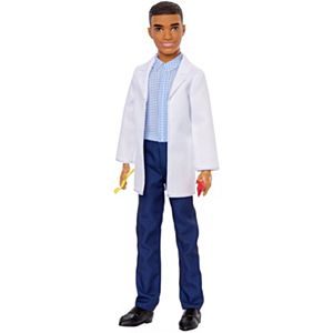 Ken™ Dentist Doll, Brunette, Wearing Professional Dental Coat, 2 Dental Toothbrush and Toothpaste Accessories