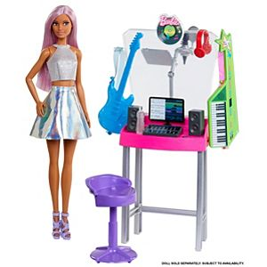 Barbie® Career Music Recording Studio Playset with Job Theme and Learning Fun