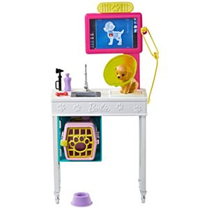 Barbie® Career Pet Vet Station Playset with Job Theme and Learning Fun