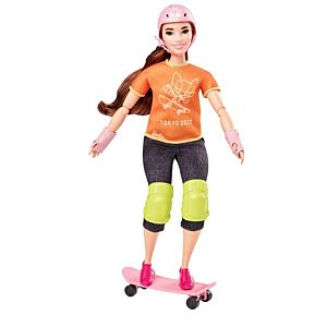 Barbie® Olympic Games Tokyo 2020 Skateboarder Doll and Accessories