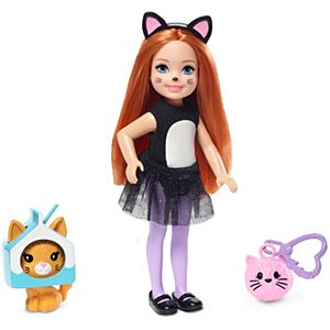 Barbie® Club Chelsea™ Dress-Up Doll in Cat Costume, 6-inch with Red Hair