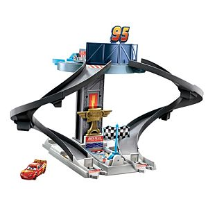 Disney and Pixar's Cars Rust-Eze Racing Tower Race Car Track Set for Movie Story Play