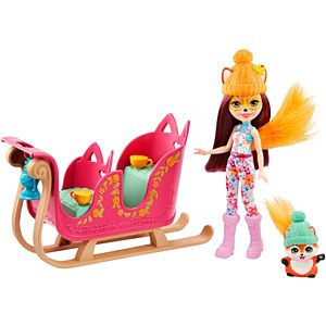 Enchantimals™ Snowtastic Sled™ With Felicity Fox™ & Flick™ Dolls